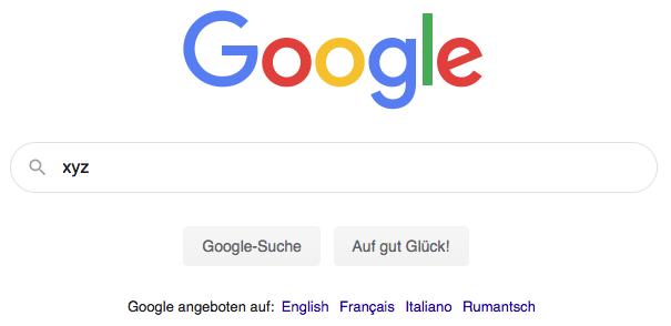 Google Suche xyz