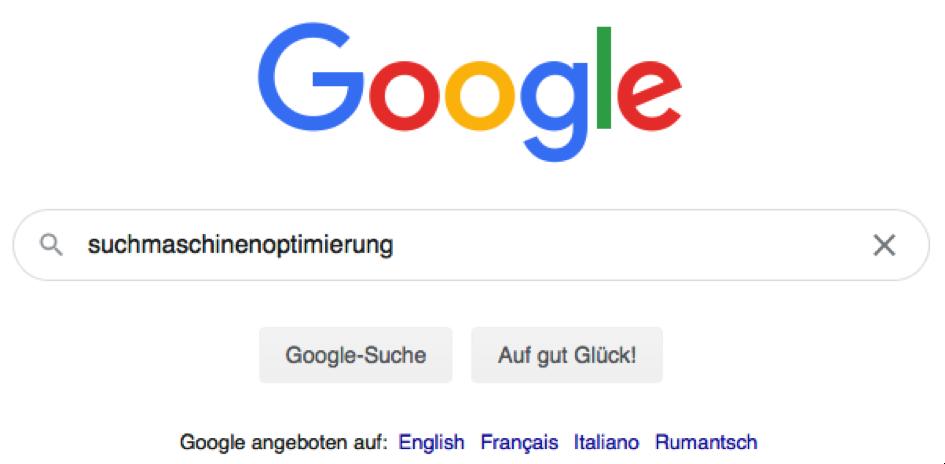 Google Suche - Suchmaschinenoptimierung
